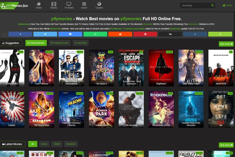 Meilleures alternatives de Putlocker en 2019: Yify